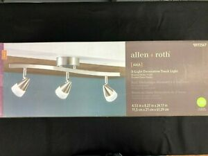 20877-000 Allen + Roth Aria 3-Light 24.1-in Brushed Nickel Dimmable LED 972567