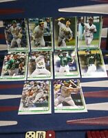 2019 Topps Series 2 Oakland Athletics Complete Team Base Set 10 Cards