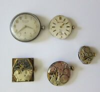 Vintage Bulova Wristwatch Movement Lot - Sold 4 Spare Parts, Repair!