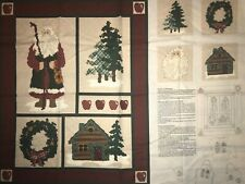 North woods Noel Christmas Panel QUILT, SEW,  FABRIC