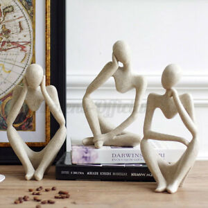 Nordic Abstract Thinker Statue Resin Figurine Office Desktop Crafts Home Decor