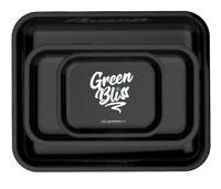 Metal Rolling Tray - Green Bliss Marijuana Leaf Design