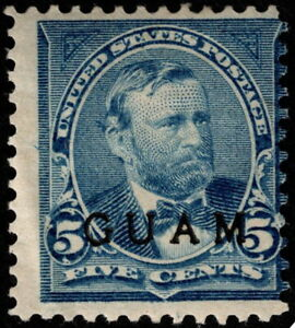 Guam - 1899 - 5 Cents Blue Ulysses S. Grant Overprinted Issue # 5 Mint VG - Fine
