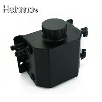 Aluminum Universal 1L Coolant Radiator Overflow Recovery Water Tank Bottle Black