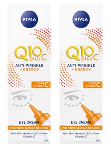 2 x Nivea Q10 Plus C Anti-Wrinkle + Energy Eye Cream (2 x 15ml)