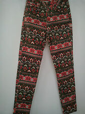 Bonito NUEVO DISNEY MICKEY señoras para mujer Skinny Leggins Pantalones Tamaño 6/8 Talla XS