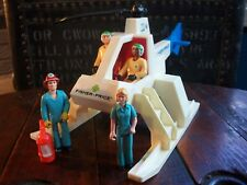 1974 Vintage Fisher Price Adventure People Rescue Helicopter w Figures