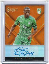 2015 Panini Select Signatures Soccer Orange Auto Yaya Toure 34/75