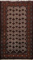 Traditional Geometric Bokhara Oriental Area Rug Hand-knotted Kitchen Carpet 2x3