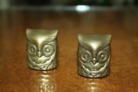 Brass Owls With Screw Threads in Base - Paperweights - Home Decor