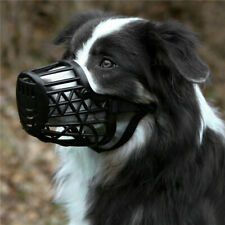 More details for 1x dog muzzle basket cage with adjustable straps for pet dogs anti-biting uk