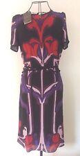 $1990 NWT GUCCI DRESS MULTICOLOR ART NOUVEAU FLOWER PRINT 100% SILK Sz 40 / 6 US