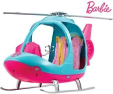 Barbie Dreamhouse Adventures Helicopter, Pink and Blue with Spinning Rotor FWY29