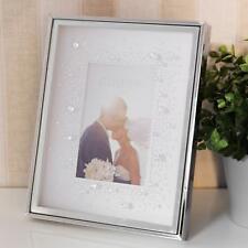 "Celebrations Crystal Set Glass Silver Tone Box Photo Frame  4"" x 6"""