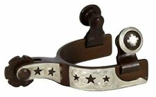 Showman Antique Brown All Around Rowel Steel Toddler Kids Childs Stars Spurs