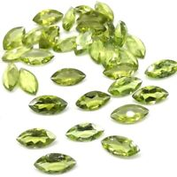 Wholesale Lot of 10x5mm Marquise Cut Natural Peridot Loose Calibrated Gemstone