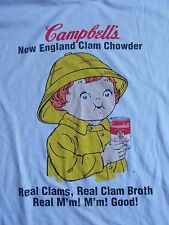 RARE ORIGINAL CAMPBELL's SOUP T Shirt LONG SLEEVE NEW ENGLAND CLAM CHOWDER FOOD