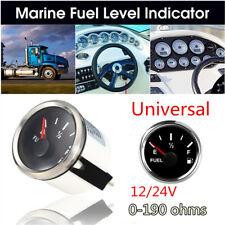 52mm Waterproof Fuel Level Gauge 0-90 ohms 9-32VDC For Car Truck Motorcycle 24V