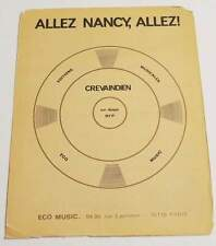 Partition vintage sheet music CREVAINDIEN : Allez Nancy Allez ! * 70's Football