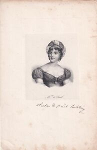 ANNA  LOUISE STAEL-HOLSTEIN Author & Political theorist lithograph c. 1840