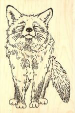 Wildlife FOX Wood Mounted Rubber Stamp IMPRESSION OBSESSION E7774 New