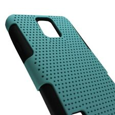 Teal Black Hybrid Case for Samsung Galaxy S5 Hard Mesh Soft Silicone Cover
