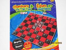 Magnetic Travel Checker Board Game - Everything Stays Put Play In Car On The Go