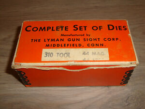 NOS VINTAGE LYMAN GUN SIGHT CORP. 310 TOOL 44 MAG. 44 SPEC. RELOADING DIES