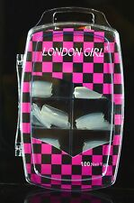 London Girl Fake/False Nails, Box Of 100 Tips, As In Picture, Glue Included