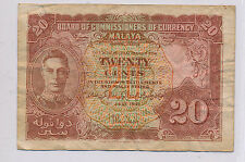 RC0140 Malaya and Borneo 1941  20 Cents  combine shipping