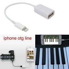 Lightning to USB Camera Connector Adapter Cable OTG Fit For Apple iPhone iPad