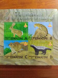New Eswatini Stamp Souvenir sheet (Mammals Animals)