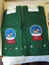 New listing Christmas Snow Globe Dishtowels (4 towels) New