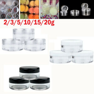 2g-20g Cosmetic Empty Jar Pots Eyeshadow Makeup Face Cream Lip Balm Containers