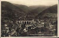 Hornberg Schwarzwald ~1940 Blick ins Reichenbachtal Brücke Panorama ungelaufen