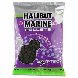 BAIT-TECH MARINE HALIBUT PELLETS DRILLED AND NON DRILLED