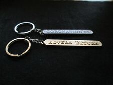 Coronation Street FAN souvenir keyrings ROVERS RETURN AND STREET SIGN BNIB