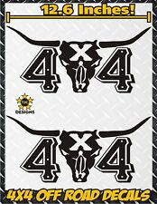 4x4 Longhorn Truck Bed Decals MATTE BLACK Ford F-150 Chevy Toyota GMC Dodge Ram