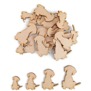 Pet Dog Puppy MDF Craft Shapes Wooden Blank Gift Tags Embellishments Animal