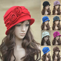 Womens 1920s Vintage Style 100% Wool Knit Cloche Beret Bucket Hat A287