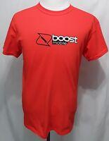 BOOST MOBILE Uniform Employee Men's Orange T-Shirt 100% Cotton