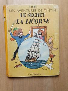 HERGE TINTIN LE SECRET DE LA LICORNE 1944