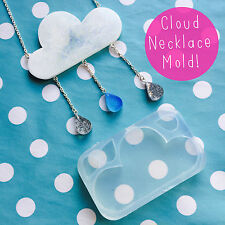 SILICONE MOLD - Rain Cloud Necklace Mold Resin Kit Statement Jewellery Weather