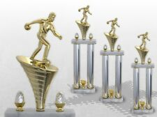 3er Säulenpokal SERIE BOWLING mit Gravur Säulenpokale Bowling große Pokale