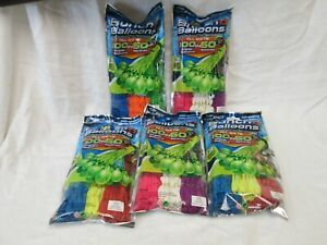 ZURU BUNCH-O-BALLOONS LOT OF 5 PACKAGES=500 BALLOONS NEW