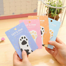 Sticky Notes Self-Adhesive Cat Paw Memo Notepad Notebook Memo Pad Lovely Mini