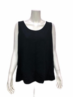 Isaac Mizrahi Live! Women's Essentials Scoop Neckline Tank Top Black 1X Size