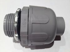 "1""  Non-Metallic Liquid Tight Electrical Conduit Straight Fitting / Connector"