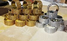 Rhinestone napkin ring 12 pieces .Gold- Best offers for large qty only