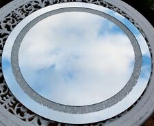 SILVER TONDO Specchio Parete Effetto Di Cristallo Argento Bagno Art Deco SWAROVSKI Bling